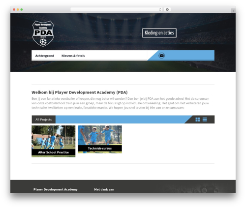 Best WordPress template Constructzine Theme - pda-voetbal.com