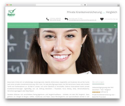 Best WordPress theme Industry Child Theme - private-krankenversicherung-tests.de