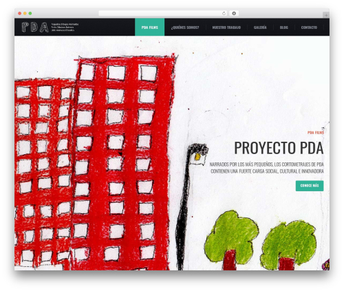 () Craft WordPress theme design - pda-films.com