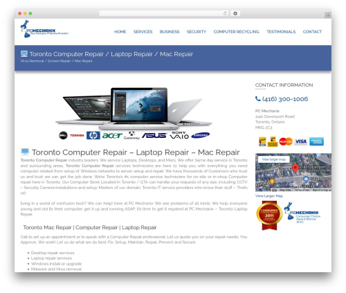 edsbootstrap WordPress page template - pcmechanix.ca