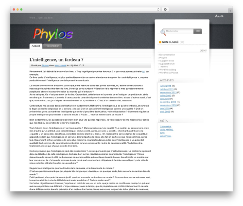 Fusion WordPress website template - phylos.fr