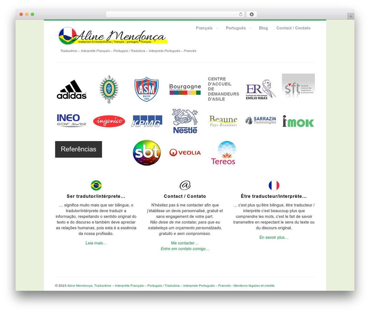 MyCorp WordPress theme - portugais-francais-services.com