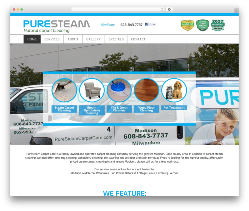 Parallax Pro Theme WordPress theme - puresteamcarpetcare.com