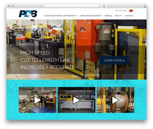 PD & B best WordPress template - pdbinc.com