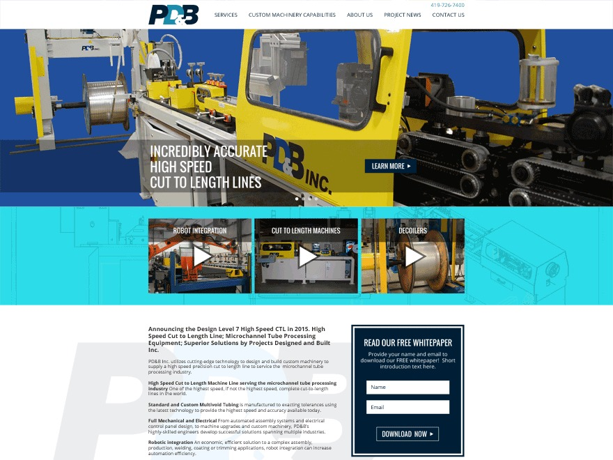 PD & B WordPress website template