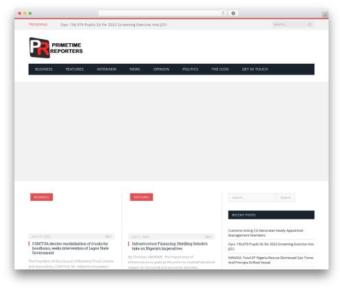 SmartMag (Share On Theme123.Net) best WordPress magazine theme - primetimereporters.com