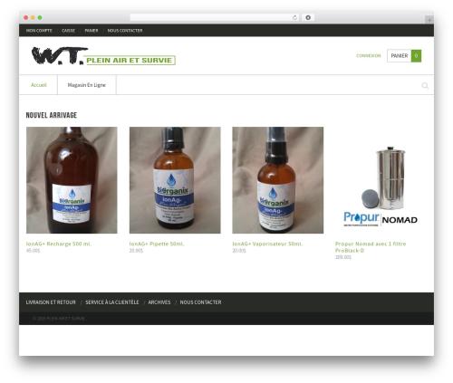 WordPress template Crux - pleinairetsurvie.com