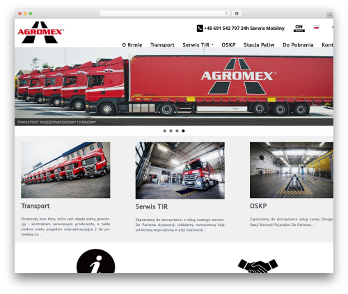 WordPress theme Almasi - agromex.pl