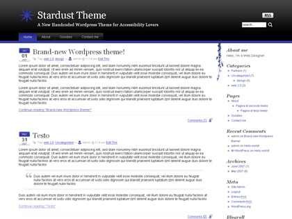 WordPress theme Red Black URI: http://www.tomstardust.com