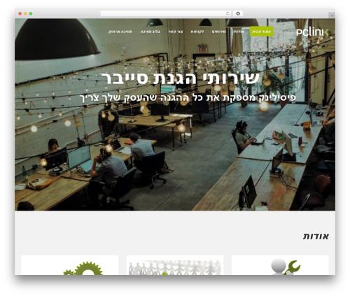WordPress website template Flatastic - pclink.co.il