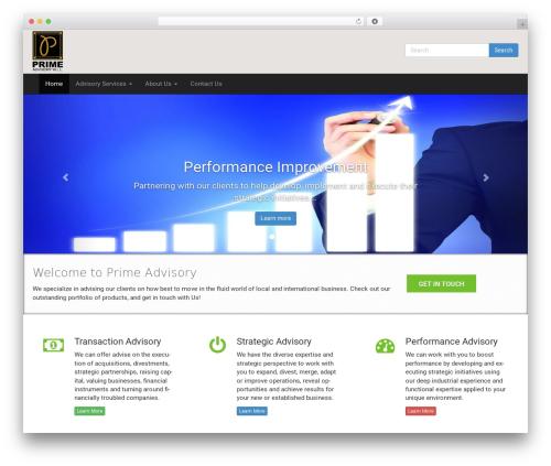 Free WordPress Business Contact Widget plugin - primeadvisorybh.com