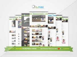 Beetube (Share On Theme123.Net) WordPress news template