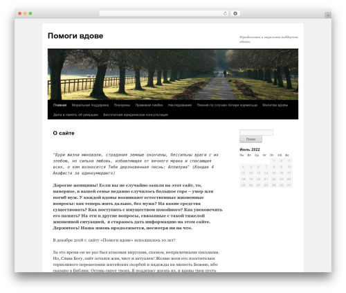 Best WordPress theme Twenty Ten - pomogiwdowe.ru