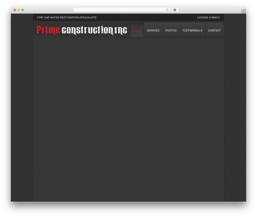 Clarion WordPress theme - primeconstinc.com