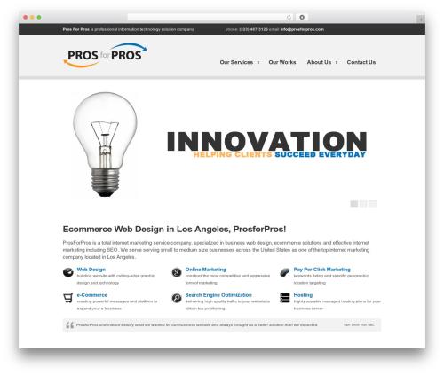 Clearly Modern WordPress shop theme - prosforpros.com