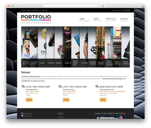 Corona best portfolio WordPress theme - production-ad.com