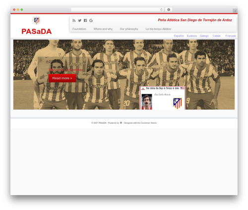 Customizr WordPress website template - pasada.es