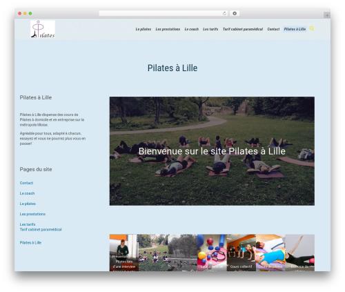 Fitnes, Sport, Gym theme WordPress - pilates-a-lille.fr