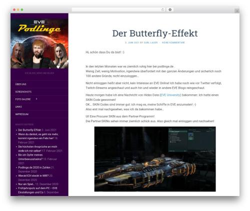 Flat best free WordPress theme - podlinge.de