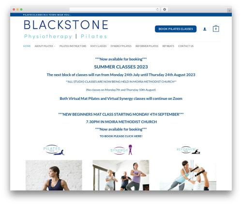 Flatsome WordPress theme design - pilatestone.co.uk