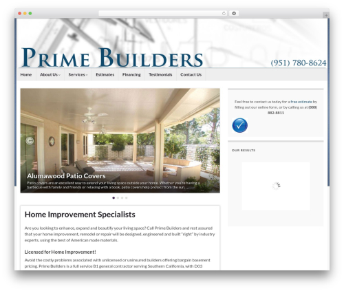Graphene template WordPress free - primebuilders.net