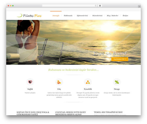 Lounge premium WordPress theme - pilatesplusistanbul.com