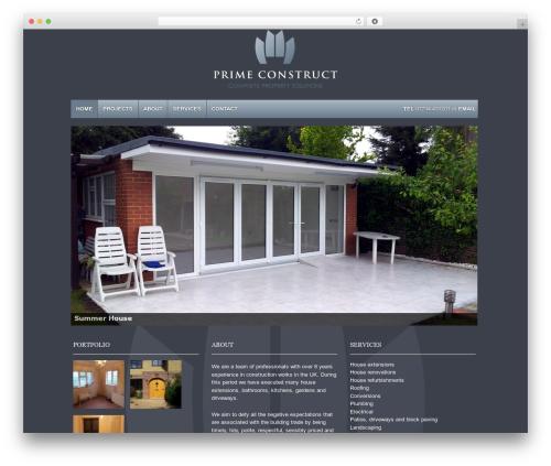 Responsive best free WordPress theme - primeconstruct.co.uk
