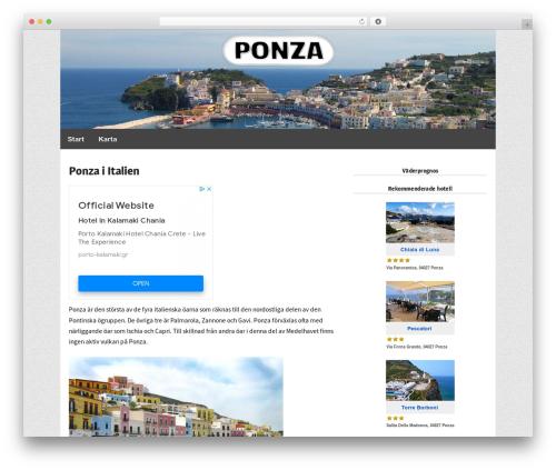 Responsive Pro top WordPress theme - ponza.se