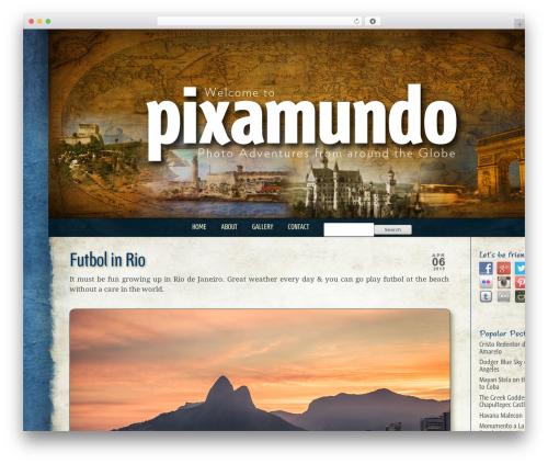 Best WordPress theme ProPhoto - pixamundo.com