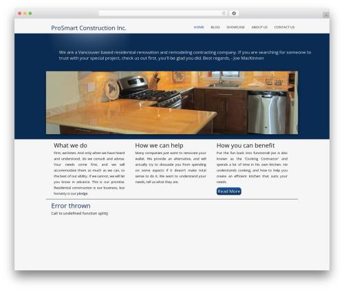 Catalyst WordPress template for business - prosmart.ca