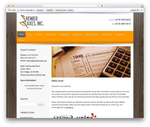 Customized company WordPress theme - premiertaxes.net