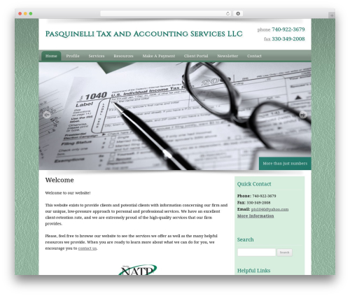 Customized WordPress page template - pasquinellitax.com