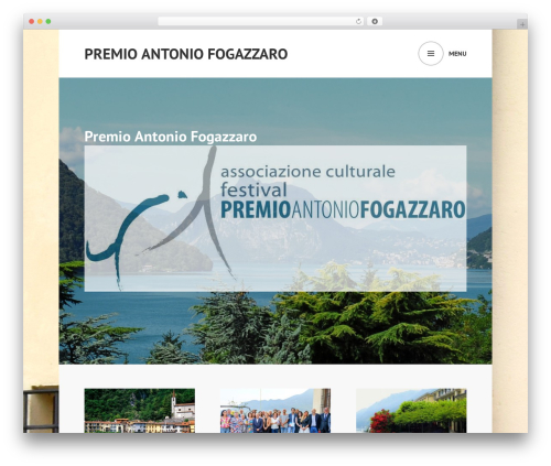 Edin WordPress theme - premioantoniofogazzaro.it