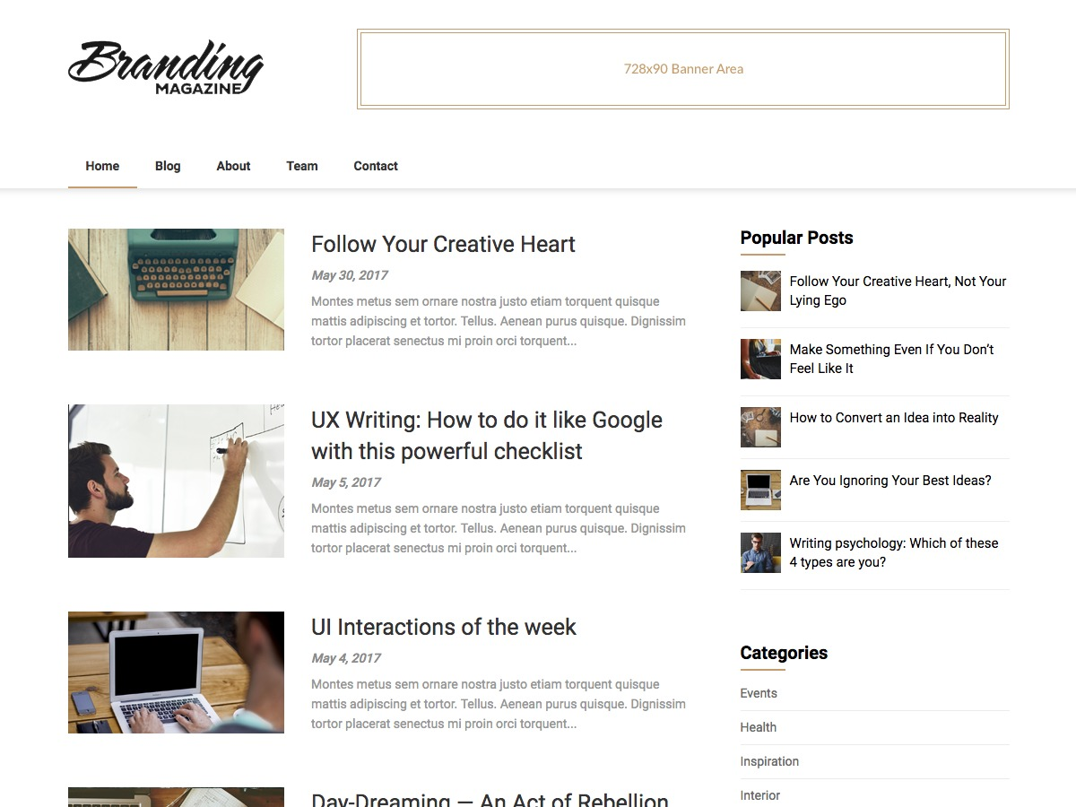 Feather Magazine best WordPress magazine theme