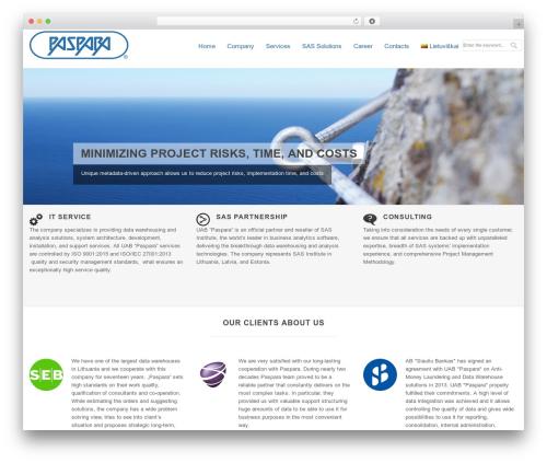 Klasik WordPress template for business - paspara.com