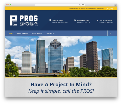 Mega Project WP template - proscommercial.com