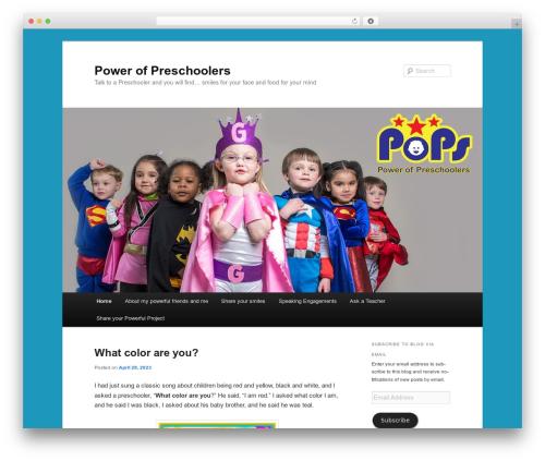 Twenty Eleven WordPress template free - powerofpreschoolers.com