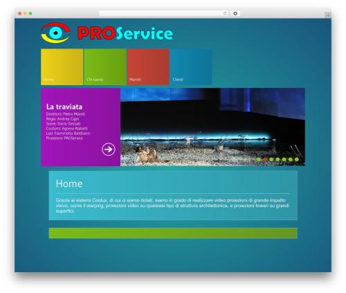 WordPress template MetroBlog - proservice.it