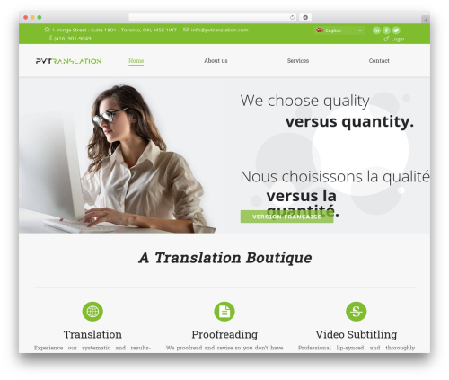 WP theme The7 - pvtranslation.com