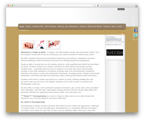Emporium WordPress website template - pmobrien.co.uk