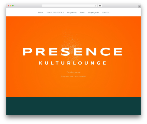 Light Dose best WordPress theme - presence-kulturlounge.de