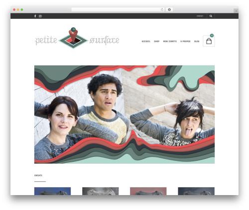 The Retailer WordPress page template - petitesurface.net