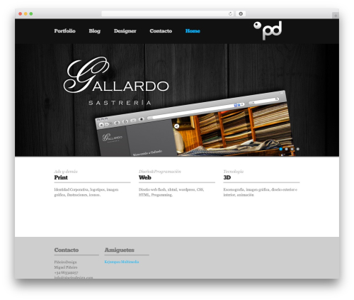 UniSphere Vision WordPress portfolio theme - pineirodesign.com