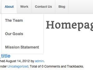 webdiner WordPress page template