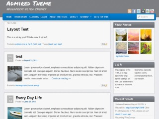 Admired template WordPress