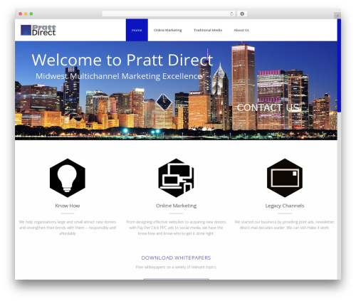 Advertica WordPress template - prattdirect.com