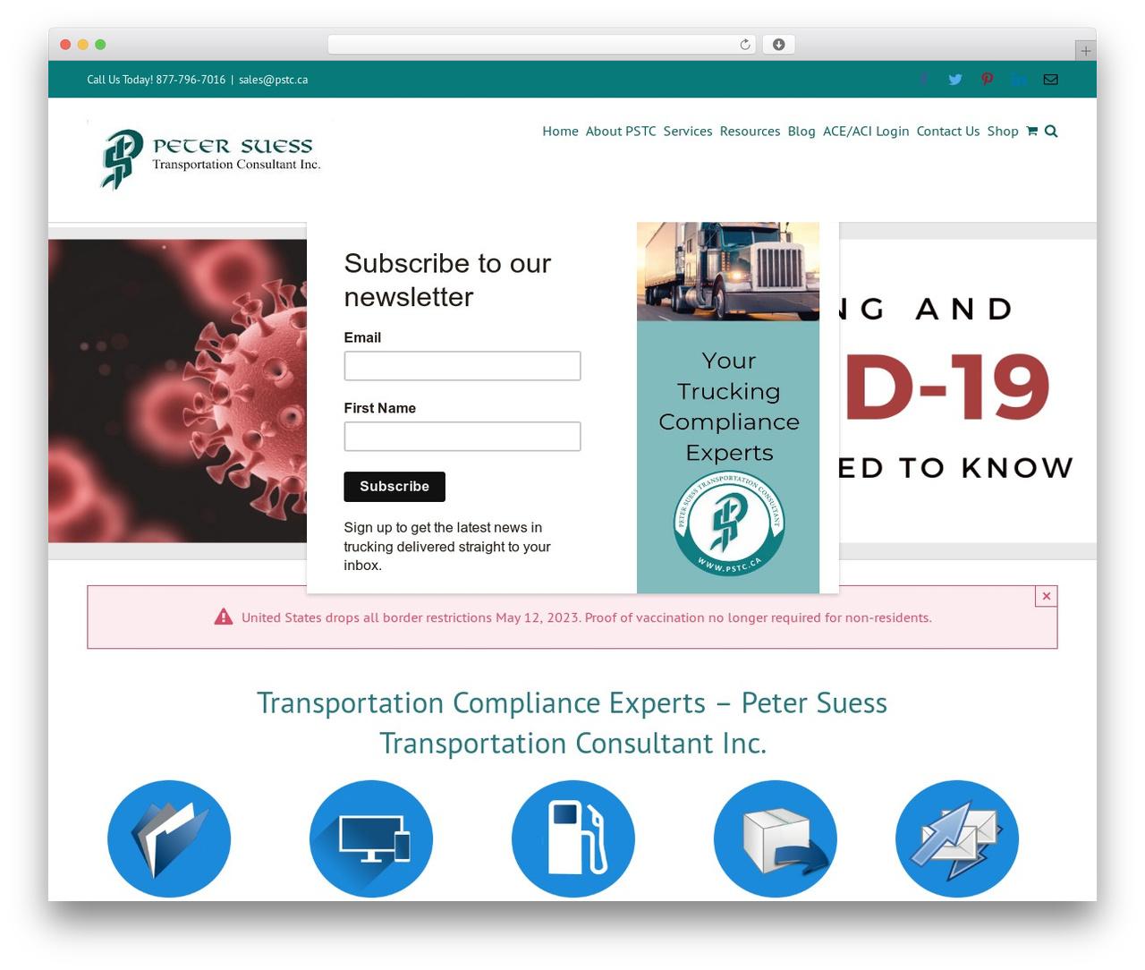 Avada WordPress theme - pstc.ca
