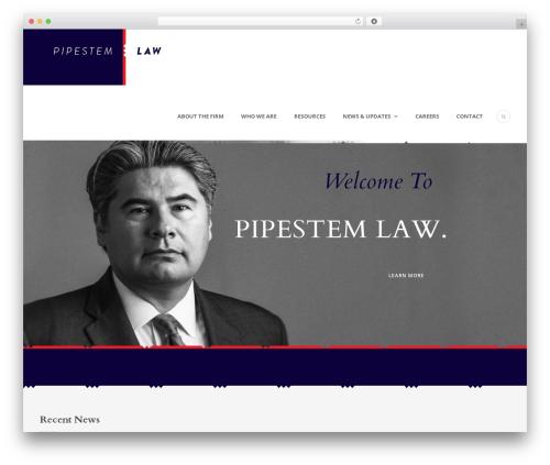Best WordPress theme Lawyer Base - pipestemlaw.com