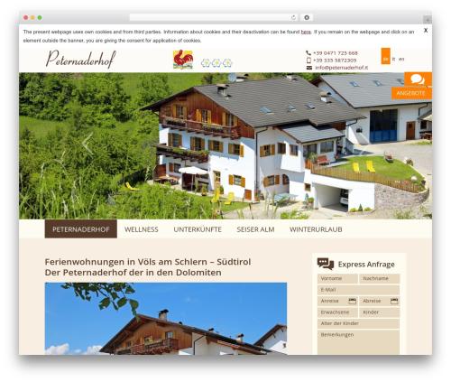 Best WordPress theme PeterNaderhof - peternaderhof.it