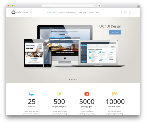 Eden best WordPress template - petermeller.com